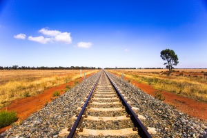 Australia Condobolin NSW Indian Pacific Railway
