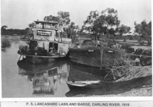 1918-lancahire-lass-and-barge-darling-river