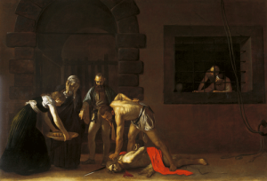 The beheading of John de Baptist Caravaggio