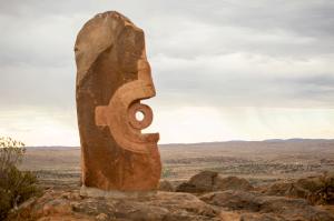 Contemporary Aboriginal desert art Broken Hill NSW - Image Shane Aurousseau