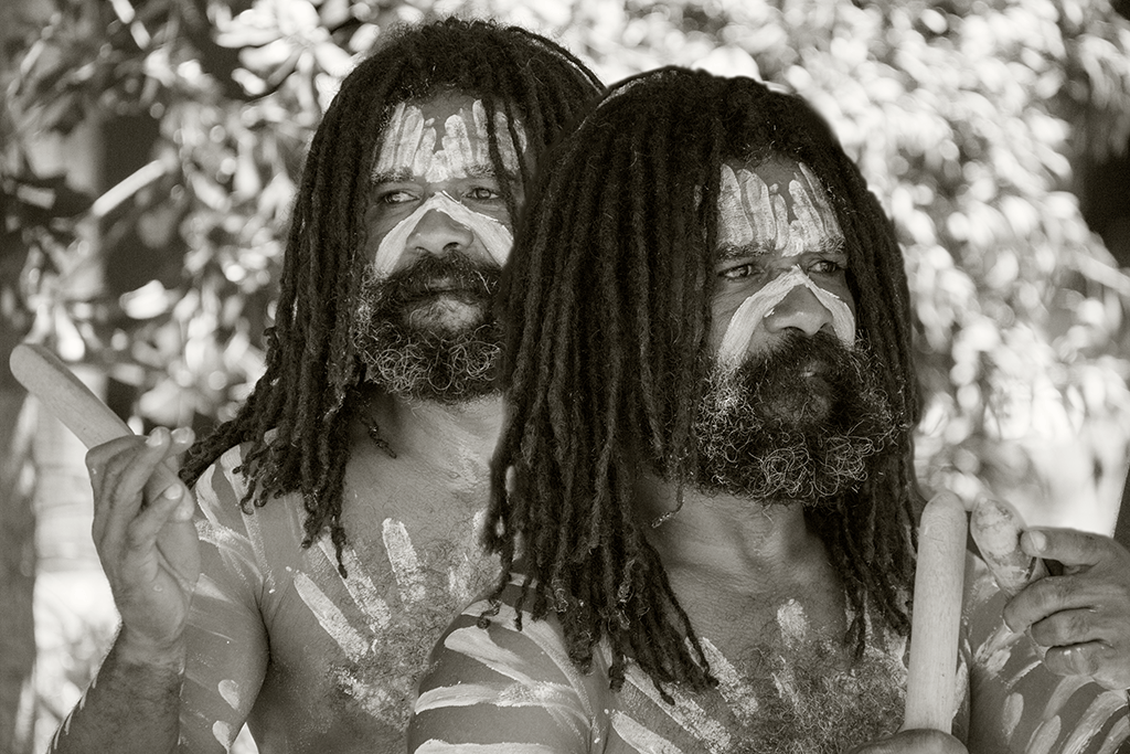 Australia Aboriginal bw