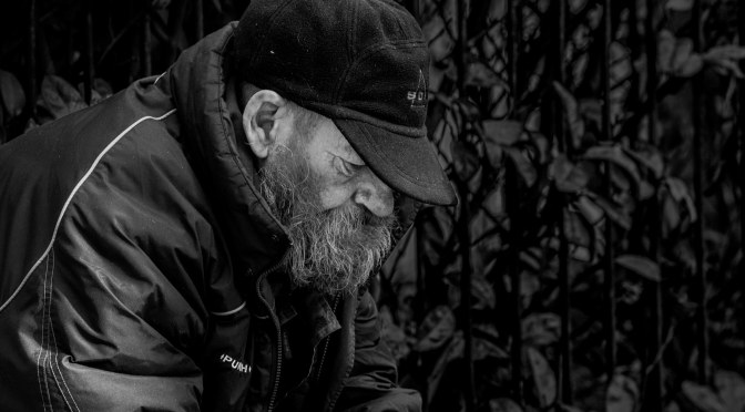 Tony Old Street Chess Master by Photographer Shane Aurousseau